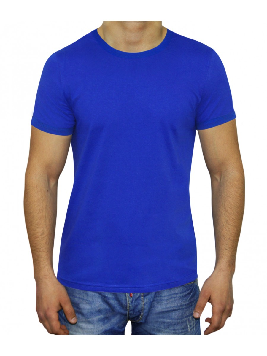 MAN SLIM FIT  T-SHIRT BLUE