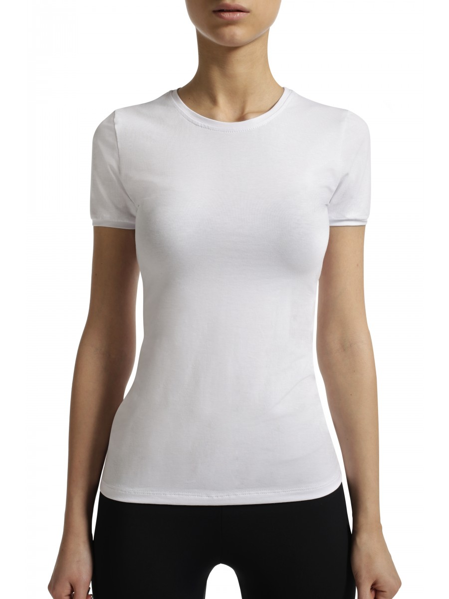woman slim fit t shirt white from category women wop shop. Black Bedroom Furniture Sets. Home Design Ideas